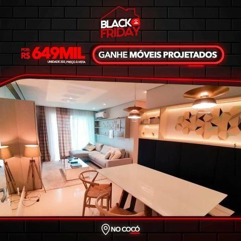 (DP) Black Friday no Cocó, com Móveis Projetados, 95m², 3 suítes, 2 vagas, Dce