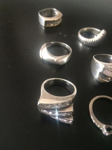 Anéis de prata aro 18/19 - Foto 4