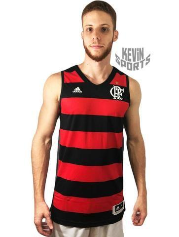 43fcb7bfda Regata Basquete Original Flamengo Adidas Rubro-Negra - Roupas e ...