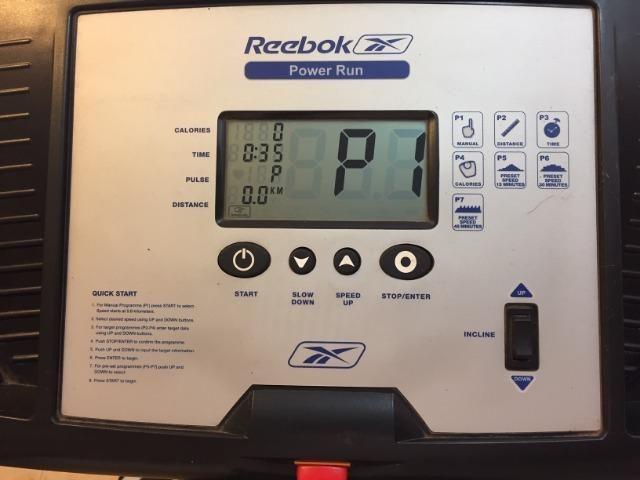 Esteira Reebok Power Run com inclinação e 7 programas 2c33078bee9f2