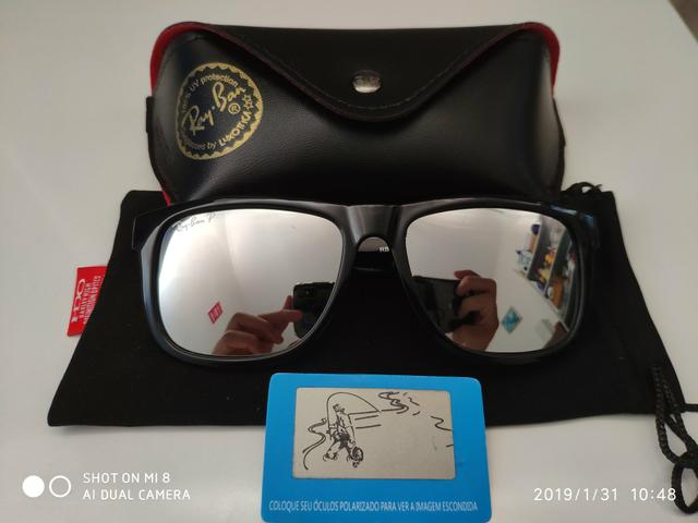 3fe0f5b14 Óculos ray ban justin polarizado-aceito cartão - Bijouterias ...