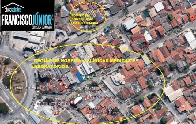 Lote Comercial no Setor Coimbra 445 m², encostado no Hospital Samaritano e Clínicas médica
