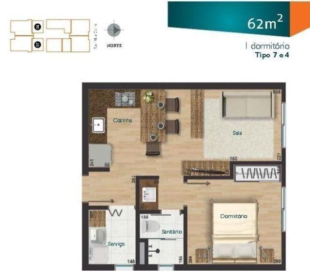 Apartamento Novo centro de Joinville - ótimo padrão 1 quarto novo entregue 2019 - Foto 10