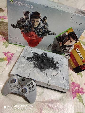 Xbox one X, edição limitada Gears 5 ZERADO!!! - Foto 2