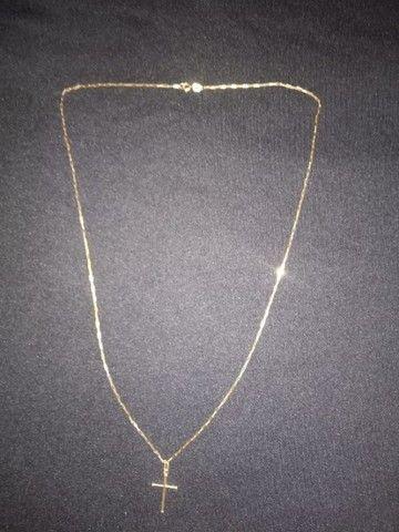 Cordão de Ouro 18k unissex com Pingente  - Foto 2