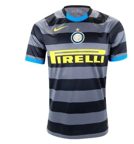 Camisa Inter de Milão Third 20/21 s/n° Torcedor Nike Masculina - Cinza+Amarelo - Foto 5