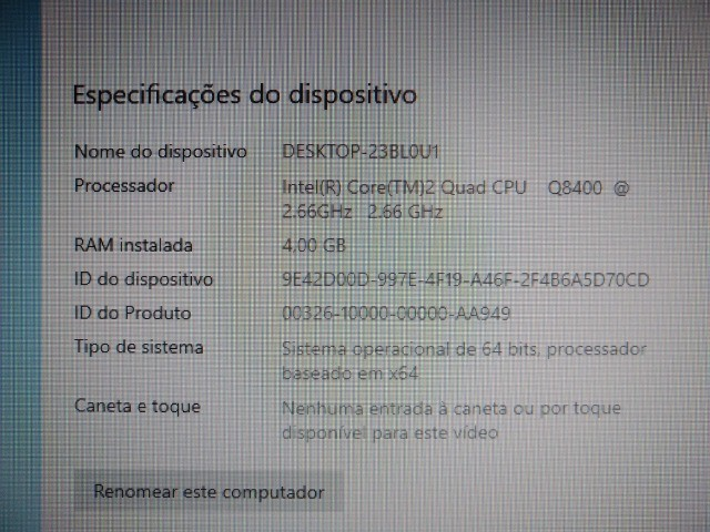 CPU Core 2 Quad 8400, placa mãe Intel, 4Gb RAM Kingston DDR2 800Mhz e 200Gb de HD - Foto 5