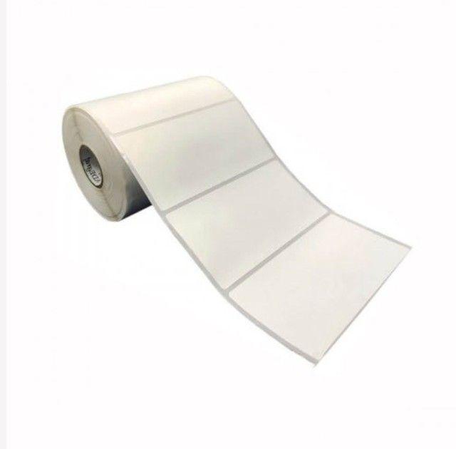2 etiqueta bopp 100x50 (10x5) adesiva fosco com 804un por rolo.
