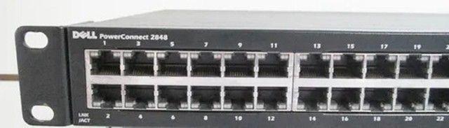 Switch Dell Powerconnect 2848 48p Giga + 4p Sfp Fibra - Foto 2