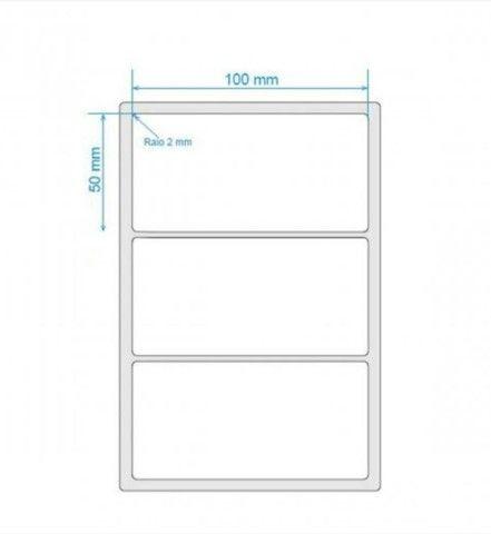2 etiqueta bopp 100x50 (10x5) adesiva fosco com 804un por rolo. - Foto 6