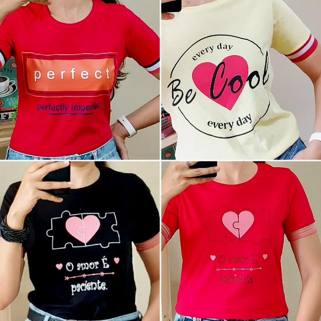 12 T-Shirts Feminina No Atacado! - Foto 3