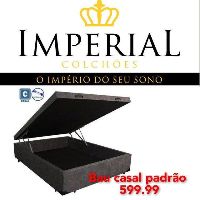 Cama box baú, base baú, box baú, cama baú novos  Colchão  - Foto 2