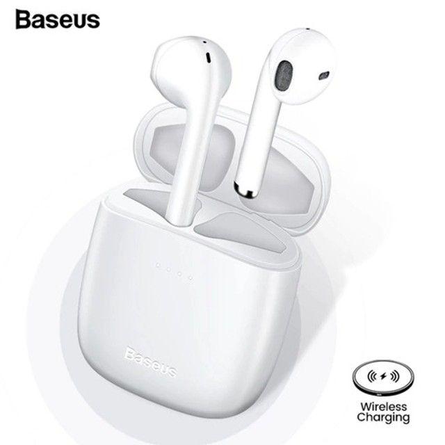 Fone Bluetooth Baseus Encok W40 Pro - Carregamento Sem Fio - Foto 3