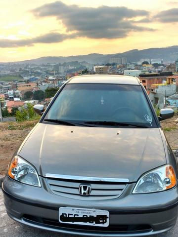 Honda Civic LX 1.7 Completo + Couro Ótimo Estado