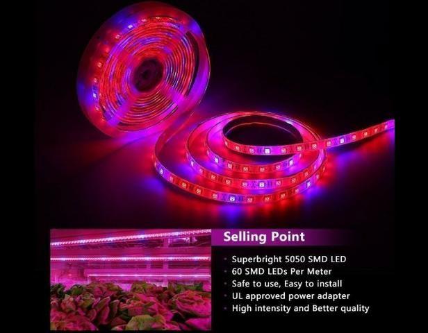 COD-CP325 1 Metro Fita Led Full Spectrum Indoor Grow 7red 1blue Cultivo Aquario Automação - Foto 4