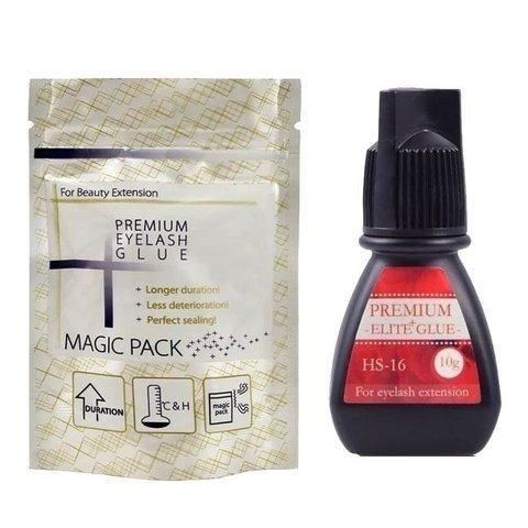 1-2s - Nova Cola HS-16 Elite Alongamento De Cílios - Premium Black Glue 5ml + Magic Pack