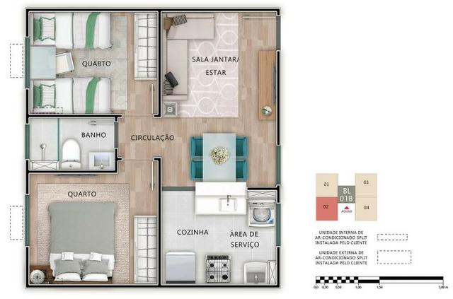 Apartamento 2Q Parque Macambira 100% financiado entrada facilitada - Foto 4