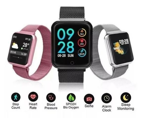 Entrega-gratis-Relógio Smart Watch P70 - Foto 2