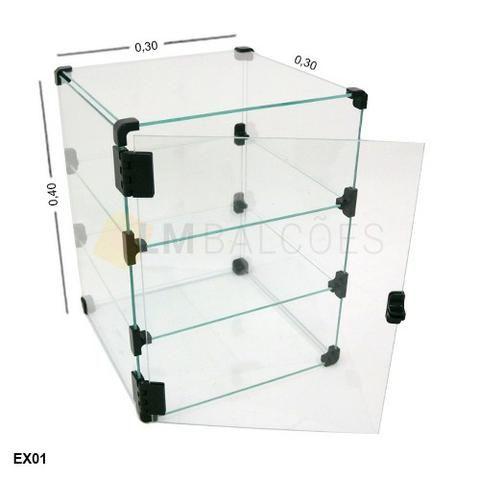 Expositor com porta 0,40 x0,30 x 0,40 Fretee e Montagem gratis