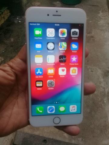 Vendo iphone 6s plus 16gb carregador aceito trocas