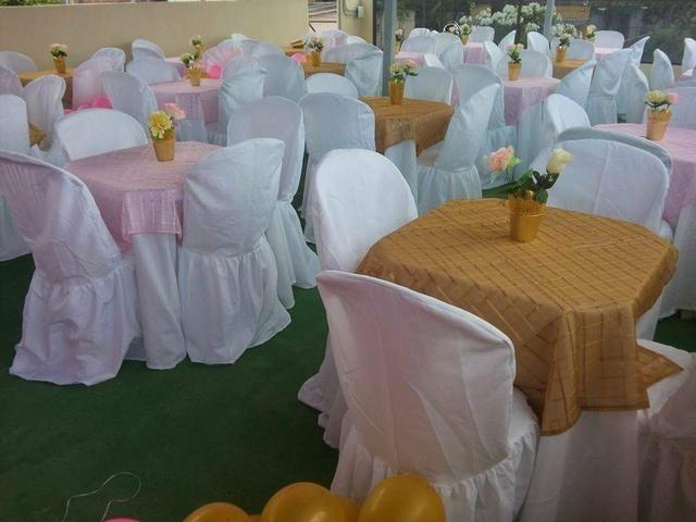 Aluguel de capas de cadeiras e toalhas de mesa - Foto 3