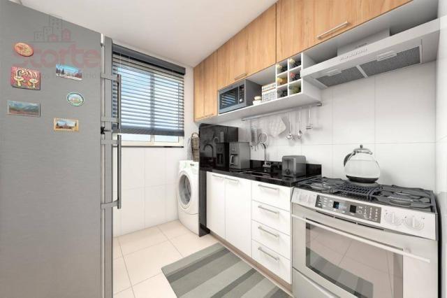 Apartamento com 2 dormitórios à venda, 43 m² a partir de R$ 125.000 - Shopping Park - Uber - Foto 2