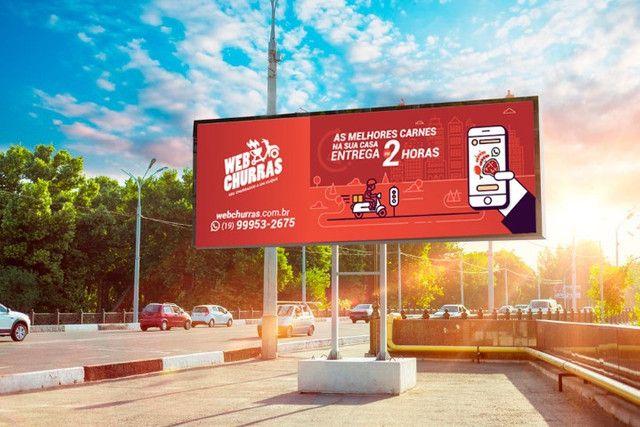 Painel Rotativo Scrolling Giram 6 Propagandas 3 X 9 Outdoor Publicidade - Foto 6