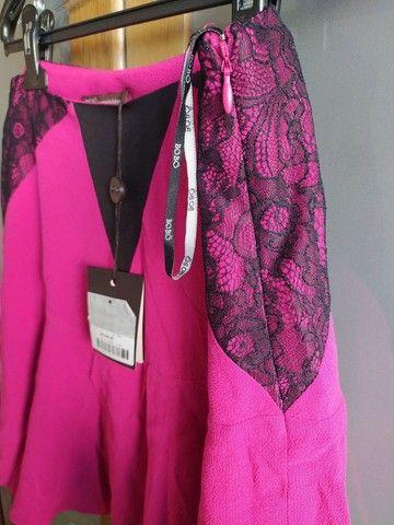 Saia Bo.Bô rosa pink Tam M com etiqueta - Foto 6