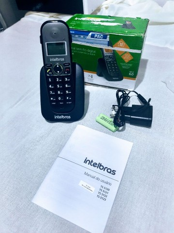 Telefone Intelbras sem Fio TS 5121 Ramal - Preto - Foto 2