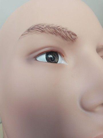 Manequim masculino de resina sem uso olho vidro - Foto 6