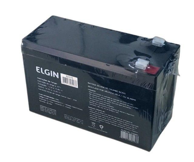 Bateria Selada de Chumbo Válvula VRLA 12v 7A Alarme - Elgin - Foto 2