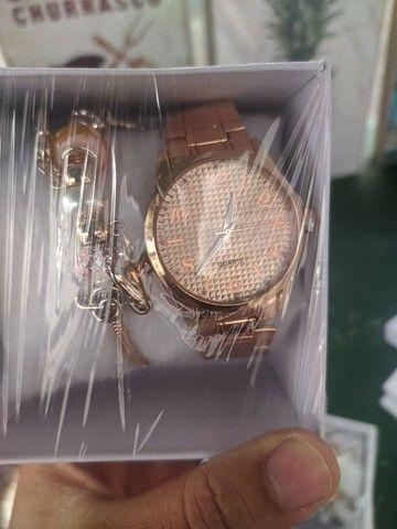 Relógio feminino c/ pulseira - Foto 2