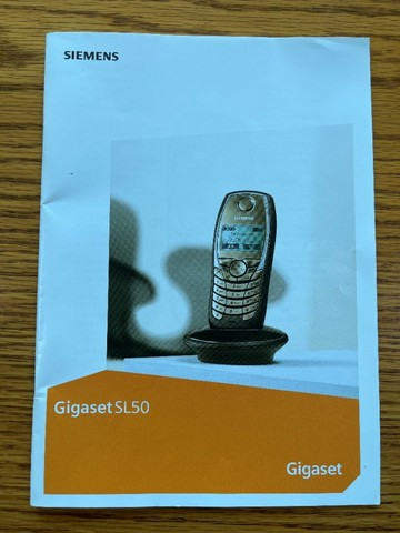 Central Telefone sem fio Siemens Gigaset SL50 com 4 ramais e 2 fontes de carregamento