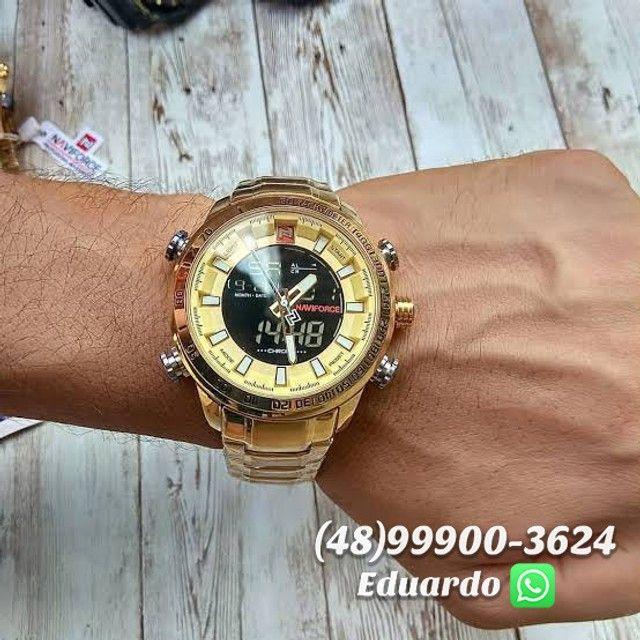 Relógios originais NaviForce Aço Inoxidável - 3atm!! - Foto 3