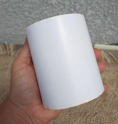 2 etiqueta bopp 100x50 (10x5) adesiva fosco com 804un por rolo. - Foto 3