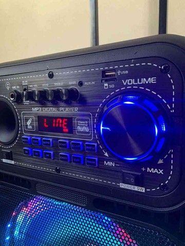 Caixa de som 5000w Bluetooth microfone e controle remoto  - Foto 2