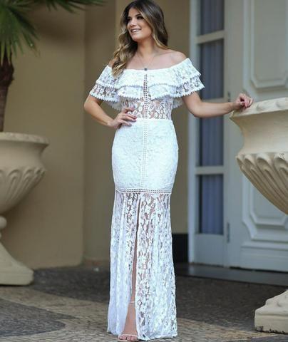 d64b7f493 Vestido de renda branco - Roupas e calçados - Rodoviário, Goiânia ...