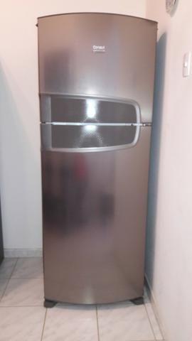 Geladeira Consul duplex em aço inox Frost Free 441 litros Semi nova - Foto 2