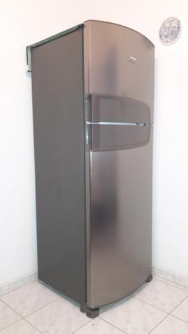 Geladeira Consul duplex em aço inox Frost Free 441 litros Semi nova