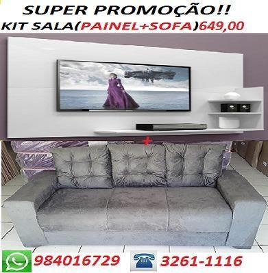 Preço Bom Demais Lindo Kit Sala(Sofa+ Painel) Novo Apenas 649,00