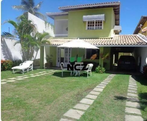 Casa com 4 dormitórios à venda, 340 m² por r$ 940.000 - itapuã - salvador/ba