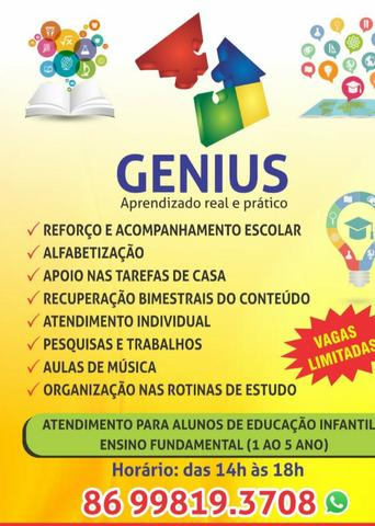 Acompanhamento Escolar Genius