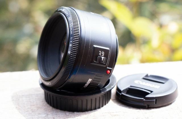 Objetiva Canon 50mm ef sem marcas, fungos ou avaria - Foto 2
