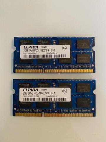 2x Pentes de Memória Original Apple Elpida 2GB