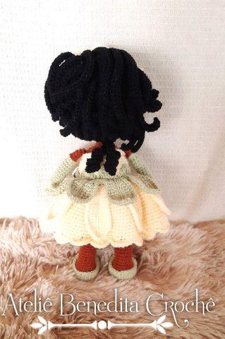 Amigurumi boneca princesa Tiana - Foto 4