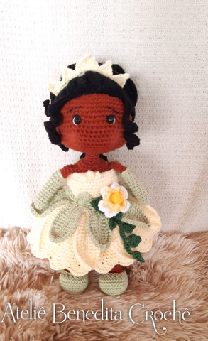 Amigurumi boneca princesa Tiana - Foto 2