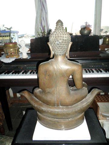 Buda (budha) em Bronze - Raro o preço é fixo! Ver o preço a vista por um tempo limitado! - Foto 4