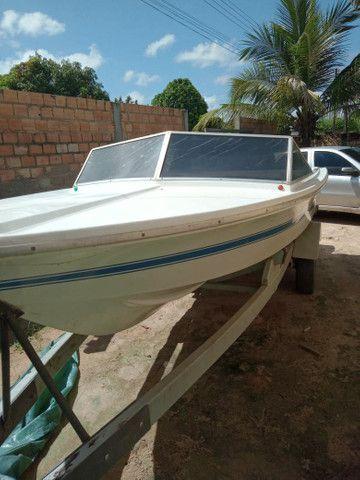 Barco com motor 60 - Foto 6