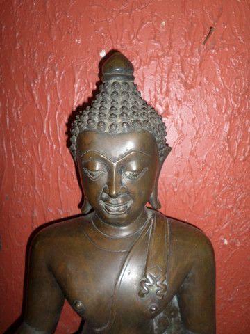 Buda (budha) em Bronze - Raro o preço é fixo! Ver o preço a vista por um tempo limitado! - Foto 5