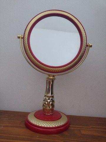 Espelho redondo de apoiar novo